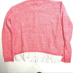 Children's Place Pink and White Crew Neck Sweater